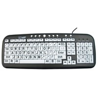 EZ See Large Print Keyboard-White Keys-Black Print