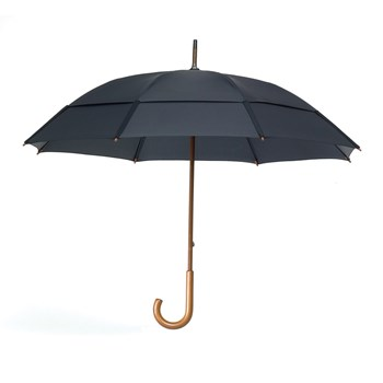 Classic Umbrella with Wooden J-Handle - Black