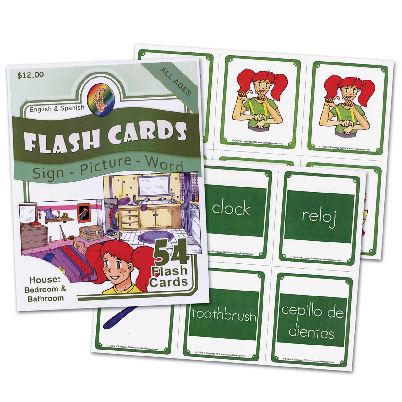 asl house flash cards bedrooms and bathrooms - Asl Bathroom