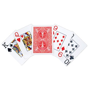 Bicycle Low Vision Pinochle Jumbo Playing Cards
