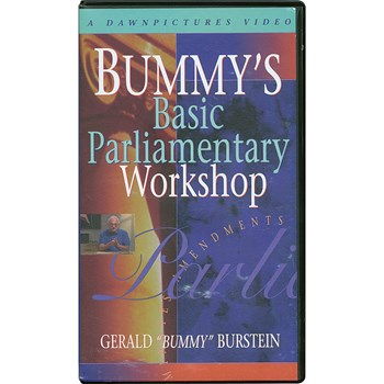 Book - Bummys Basic Parliamentary Workshop -VHS