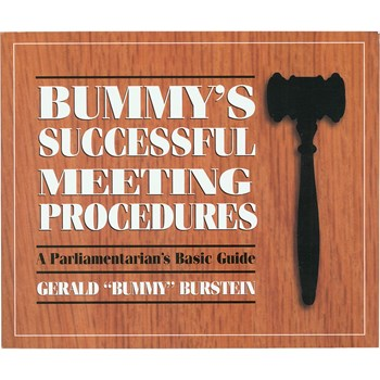 Book - Bummys Successful Meeting Procedures- A Parliamentarians Basic Guide