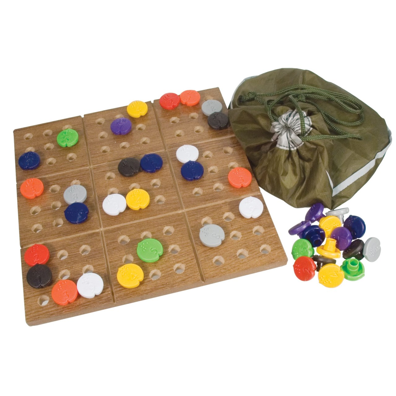 Maxiaids Braille Sudoku Puzzle Game With Board