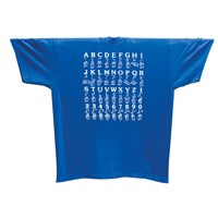 Sign Language T-Shirt with ABC and 1-2-3 - XL - Royal Blue
