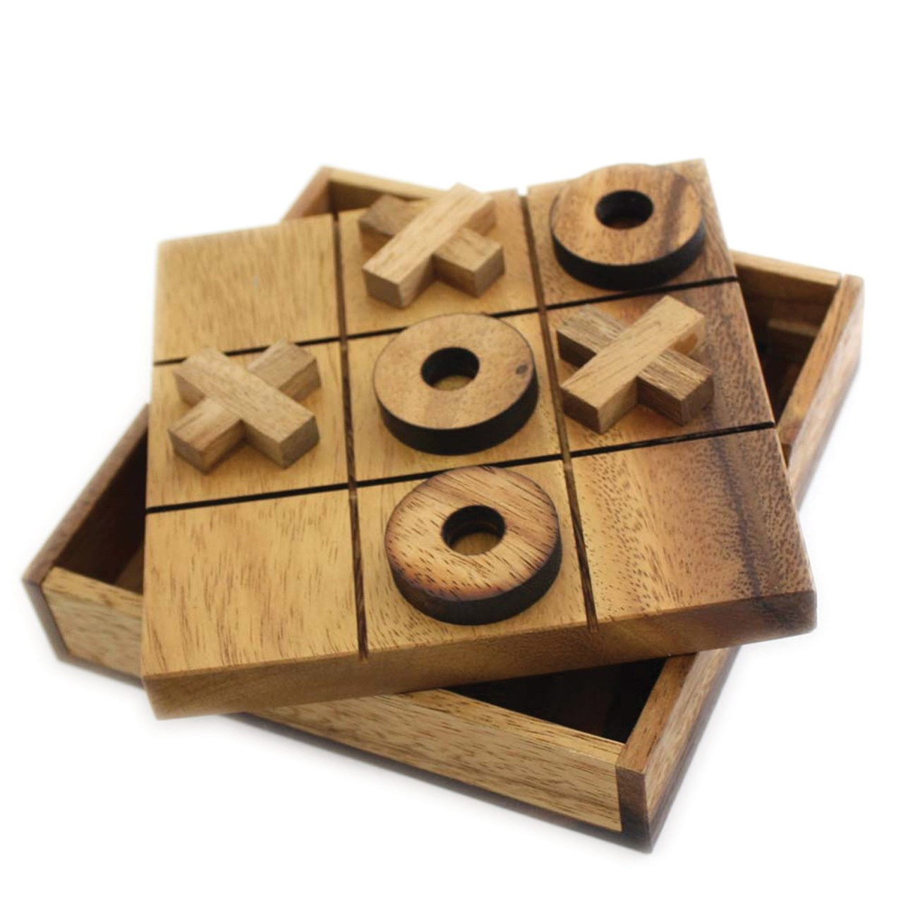 Maxiaids Tic Tac Toe Tactile Wooden Game