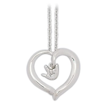 Silver-Plated Open Heart Necklace