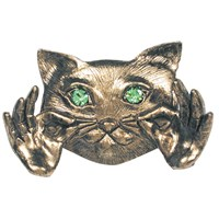 Cat Pin - Gold