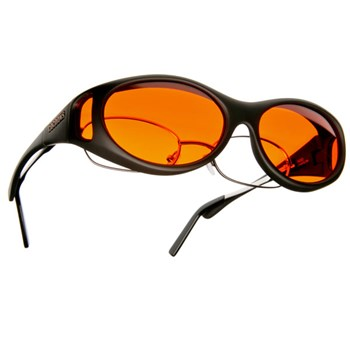 Cocoons Low Vision S-Black Frame-Orange Lens