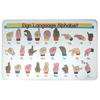 Sign Language Alphabet Placemat