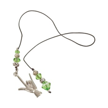 Sign Language Bookmark - ILY Hand Charm- Green