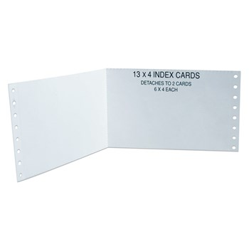 Index Cards for Brailling - White