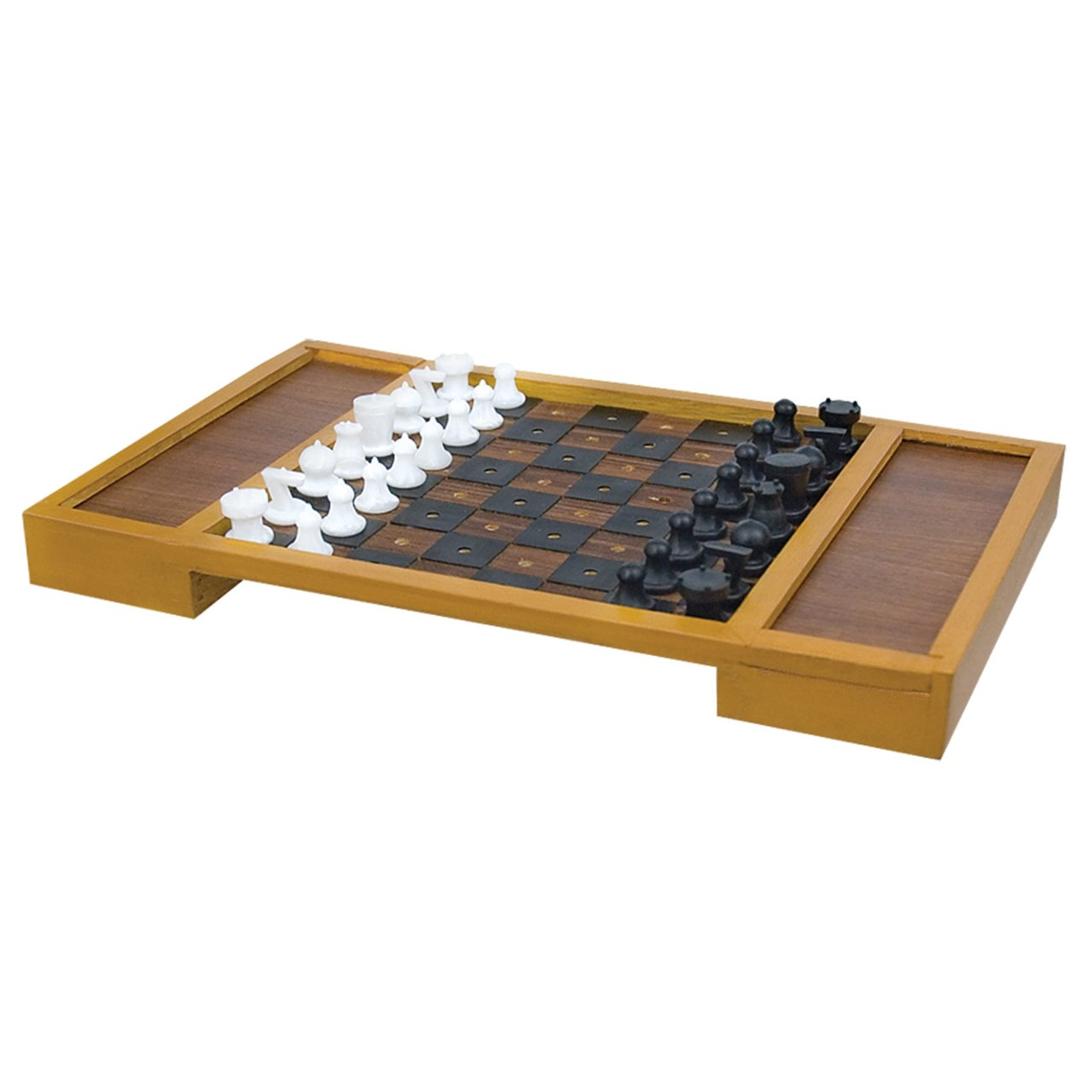 Merveilleux Large Table Top Chess Set For The Blind Or Those With Low Vision