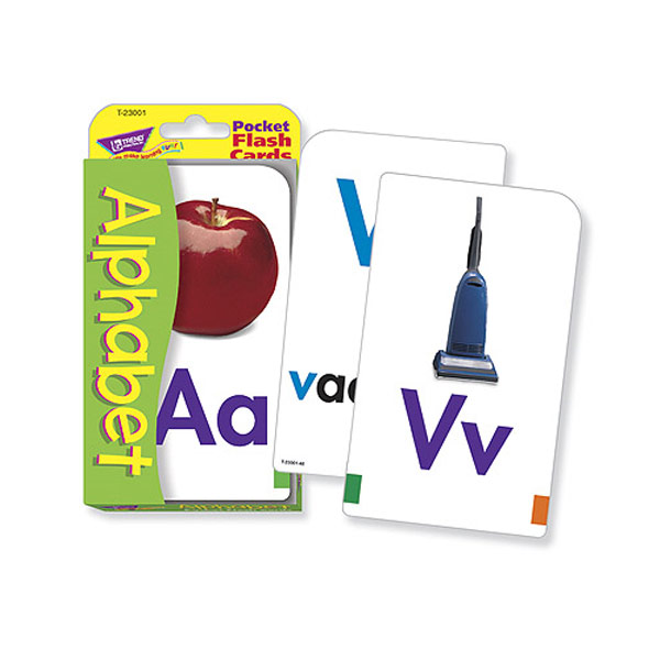 Low Vision Alphabet Pocket Flash Cards