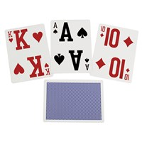 Elite Low Vision Playing Cards-Blue-Single Deck