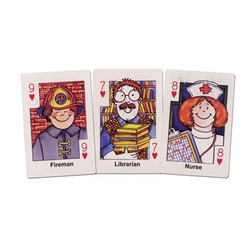 Hearts Card Game - Braille - Neighborhood Helpers Flash Cards