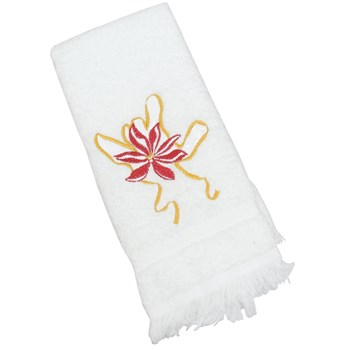 Holiday Poinsettia ILY Towel