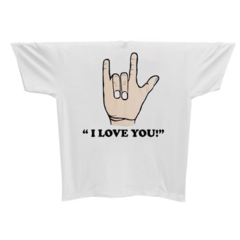 I Love You T-Shirt -Gray  - Small