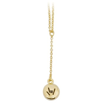 Gold-Plated Drop Necklace