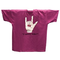 ILY T-Shirt - Fuschia Pink - Small