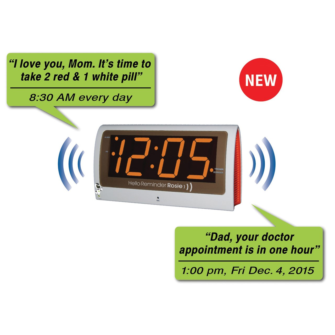 Reminder Rosie Talking Alarm Clock With Personalized Voice Reminders ...