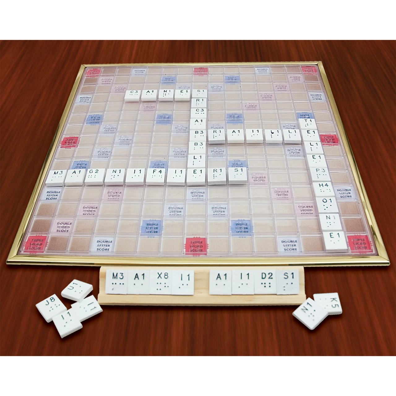 Maxiaids Deluxe Scrabble Game Braille Version