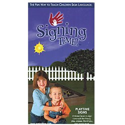 Signing Time Vol. 2 - Playtime Signs -VHS