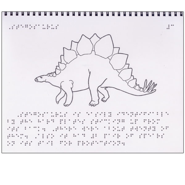 Maxiaids Tactile Book Of Dinosaurs Braille Childrens