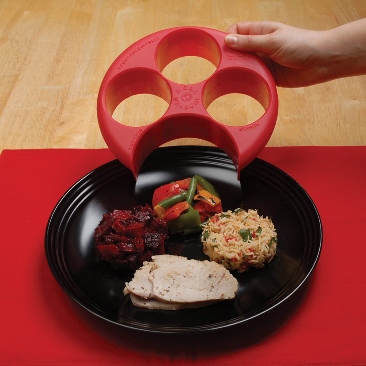 Maxiaids Meal Measure Portion Control System Red