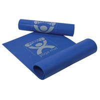 CanDo Roll Up Exercise Mat - Eco-Friendly PER Yoga Mat - Blue