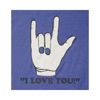 I Love You T-Shirt -Blue  - Small