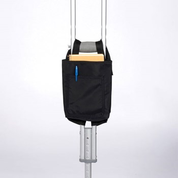Crutch Bag- Black Nylon