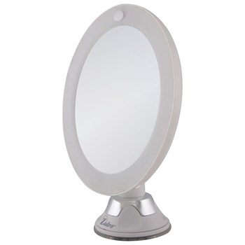 LED Lighted Z Swivel Suction Mirror