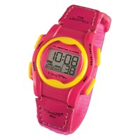 VibraLITE Mini Vibration Watch - Hot Pink with Yellow Bezel-Buttons