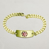 Contact Lenses Gold Bracelet