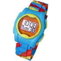 VibraLITE Mini Vibration Watch VM-SMC with Multicolored Silicone Band