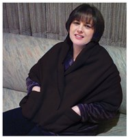 Polar Fleece Shawl Shoulder Cozy - Black