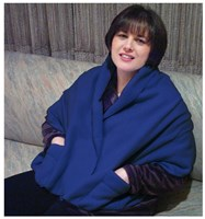 Polar Fleece Shawl Shoulder Cozy - Navy Blue