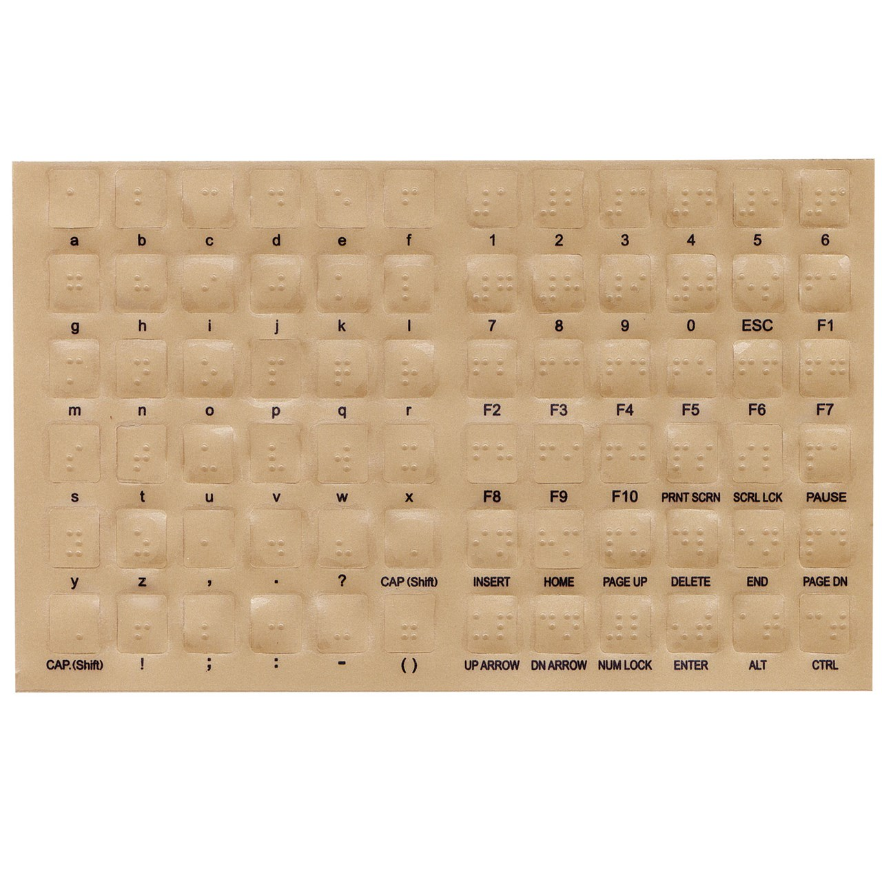 maxiaids braille overlays for computer keyboards