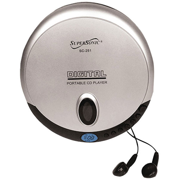maxiaids super slim personal cd player