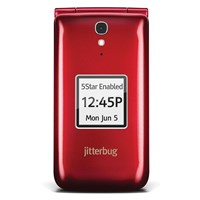 Jitterbug Flip Cell Phone - Red