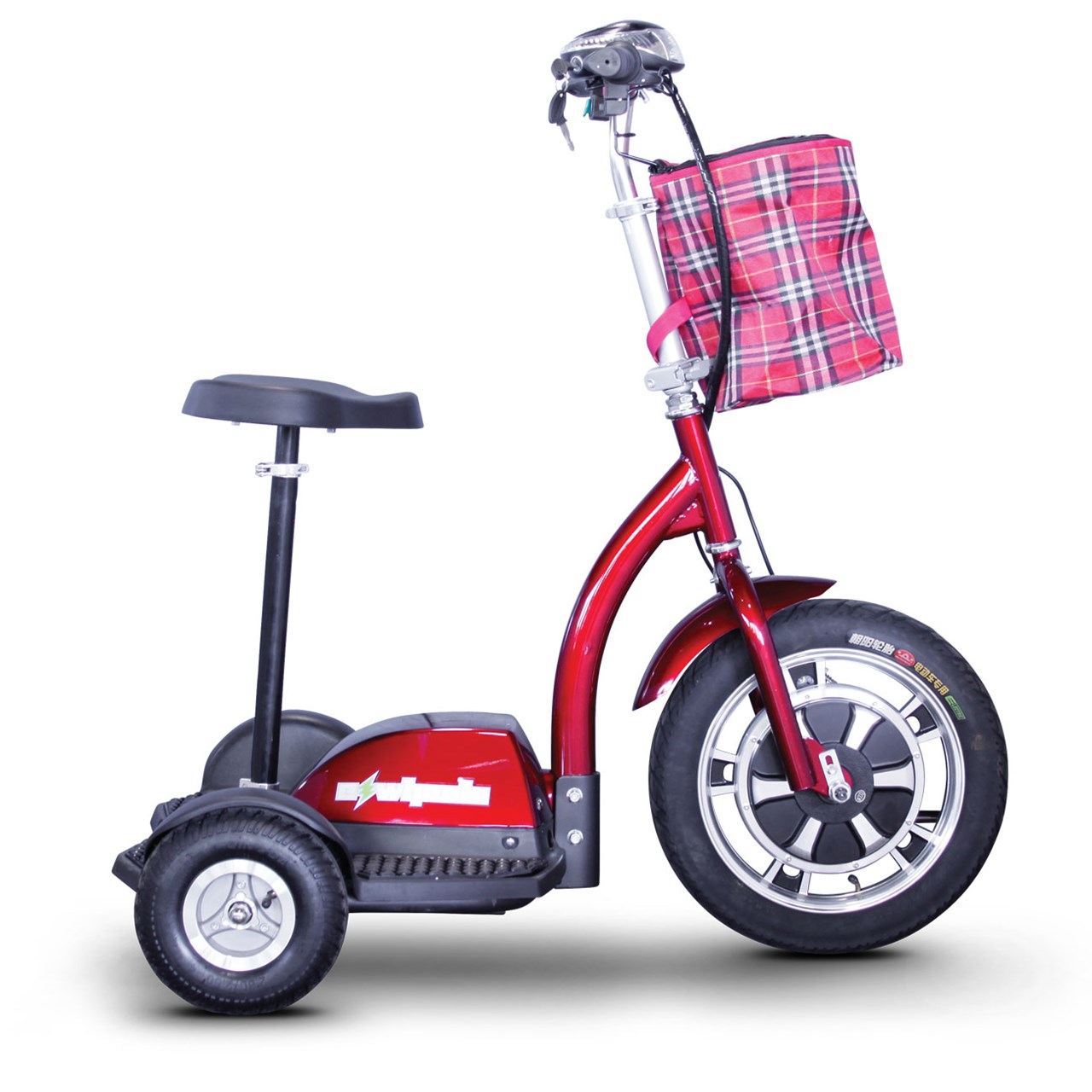 Maxiaids E Wheels Ew 18 Stand N Ride 3 Wheel Electric Mobility Scooter Red
