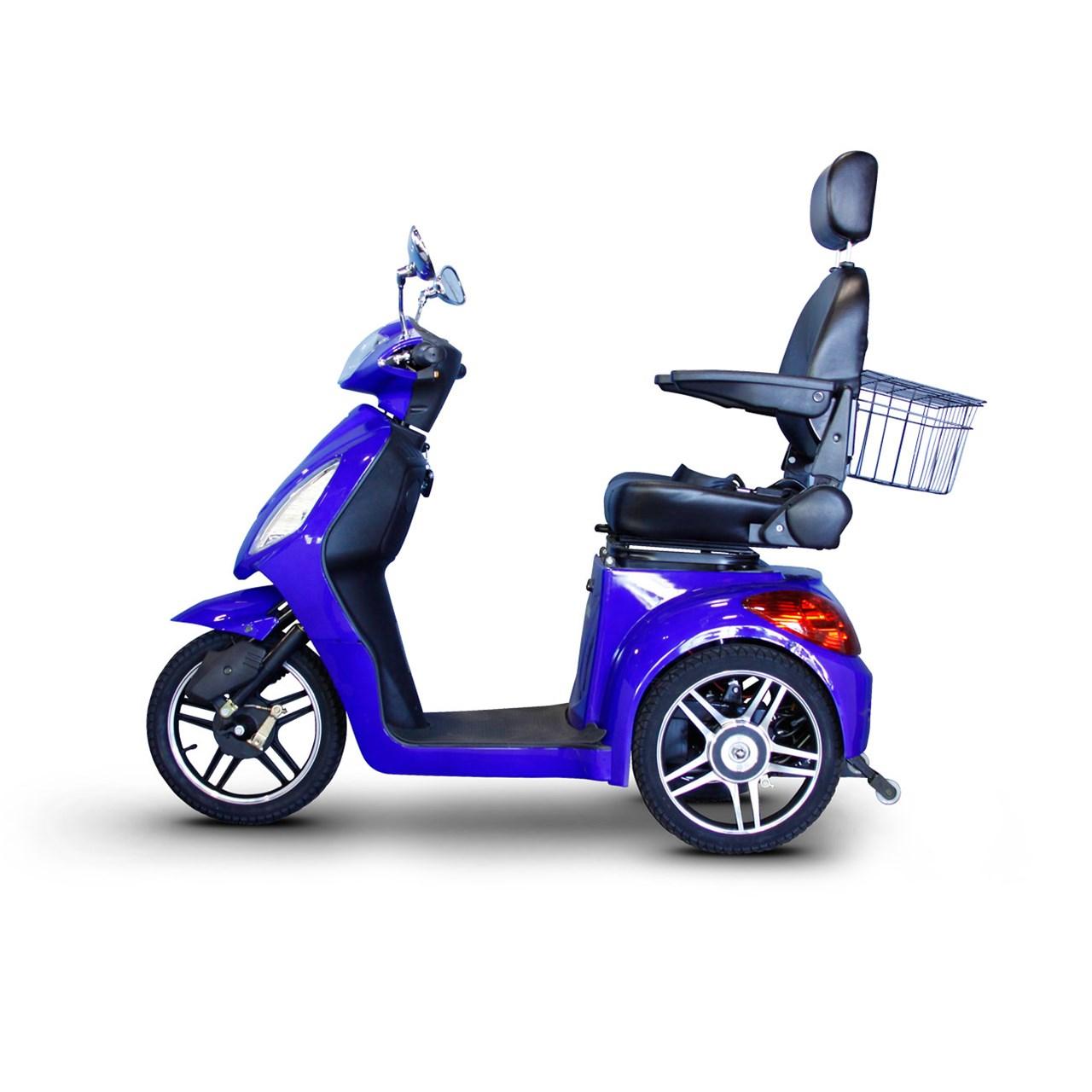 Maxiaids E Wheels Ew 36 3 Wheel Electric Senior Mobility Scooter Blue