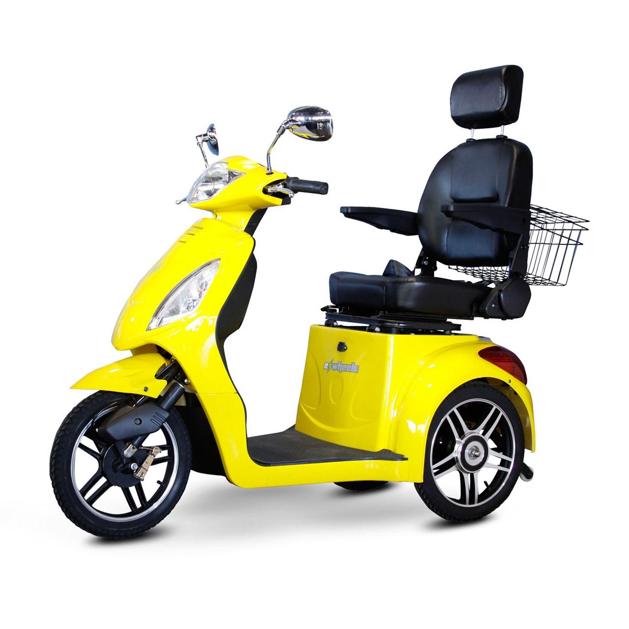 E-Wheels EW-36 3-Wheel Electric Senior Mobility Scooter - Yellow