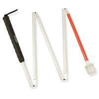 Europa 5-section Folding Cane w-Marshmallow Hook Tip- 40-in.
