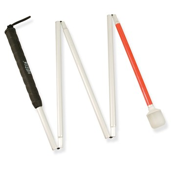 Europa 5-section Folding Cane w-Marshmallow Hook Tip- 46-in.