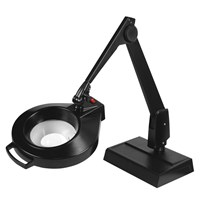 Dazor Circline Desk Base 28-Inch LED Magnifier - 5D 2.25X - Black