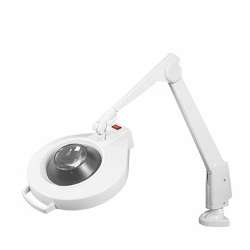Dazor Circline Clamp Mount 28-Inch LED Magnifier - 16D 5X - White