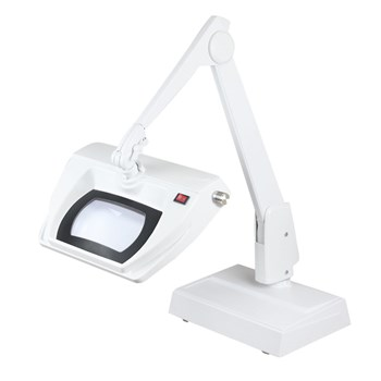 Dazor Stretchview 28-Inch Desk Base LED Magnifier 5D 2.25X - White