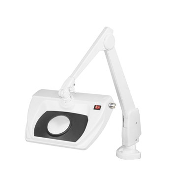 Dazor Stretchview 28-Inch Clamp Base LED Magnifier - 16D 5X - White