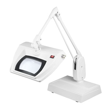 Dazor Stretchview 33-Inch Desk Base LED Magnifier 5D 2.25X - White